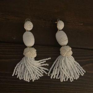 Baublebar white earrings